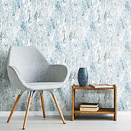 RoomMates Marble Seas Peel & Stick Wallpaper in Blue
