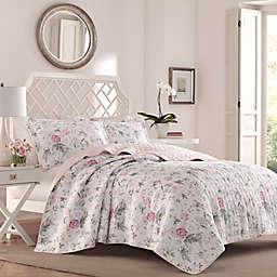 Laura Ashley® Breezy Floral 3-Piece Reversible Quilt Set