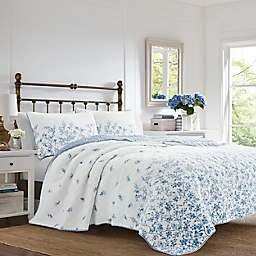 Laura Ashley® Flora 3-Piece Reversible Quilt Set