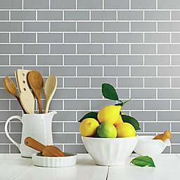 RoomMates® Peel and Stick Subway Tile Backsplash in Grey (Set of 4)