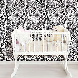 RoomMates® Clara Jean April Showers Peel and Stick Wallpaper in Black/White