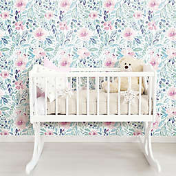 RoomMates® Clara Jean April Showers Peel and Stick Wallpaper in Pink/Green