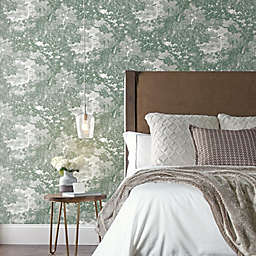 RoomMates® Jungle Toile Peel and Stick Wallpaper in Green/Grey