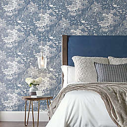 RoomMates® Jungle Toile Peel and Stick Wallpaper in Blue/Grey