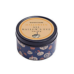 Halloween All Hallow's Eve Tin Candle in Black