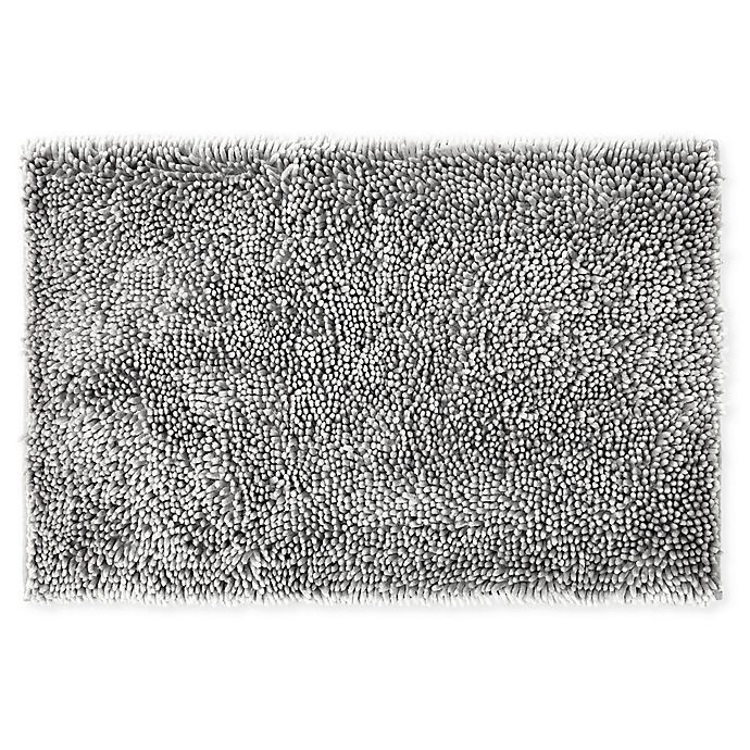 Alternate image 1 for Wild Sage™ Noodle 20-Inch x 32-Inch Bath Mat in Grey