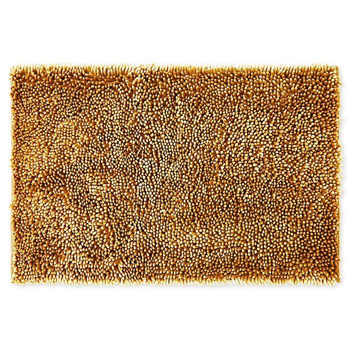 Alternate image 1 for Wild Sage™ Noodle 20-Inch x 32-Inch Bath Mat in Yellow