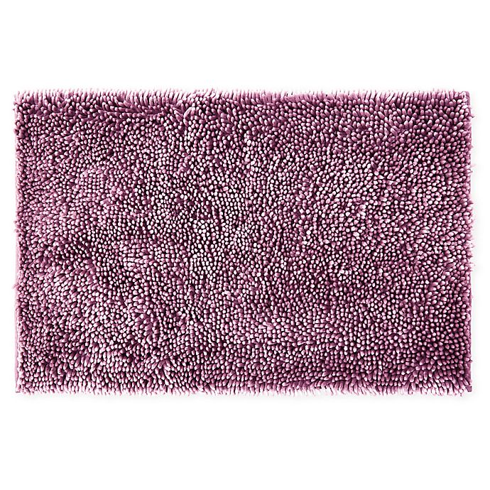 Alternate image 1 for Wild Sage™ Noodle 24-Inch x 40-Inch Bath Mat in Mauve