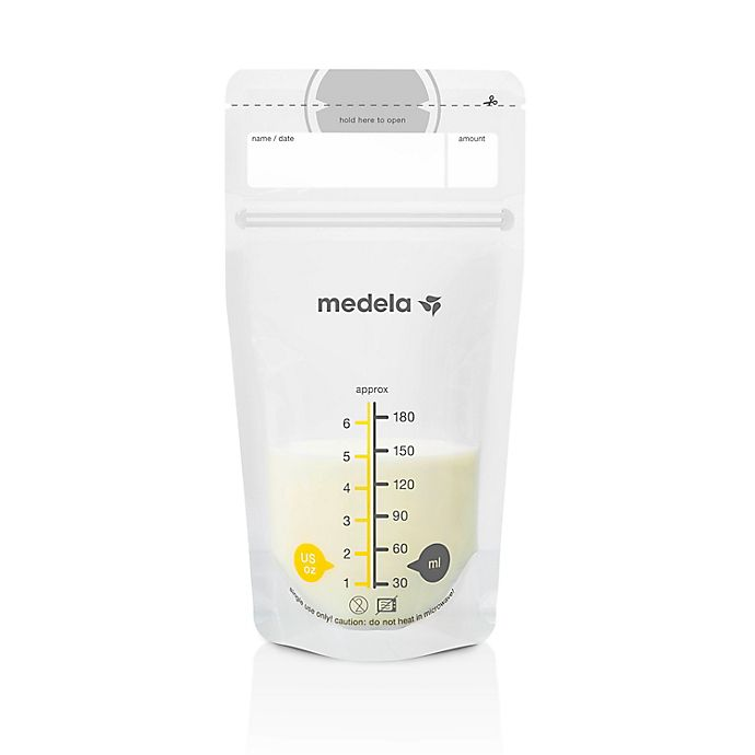 Alternate image 1 for Medela® 100-Pack 6 oz. Breast Milk Storage Bags
