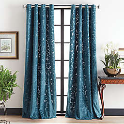 Martha Stewart 95-Inch Sherwood Velvet Grommet Window Curtain Panels (Set of 2)