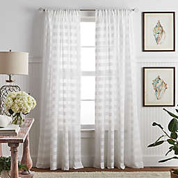 Martha Stewart Sandy Sheer 84-Inch Poletop Window Curtain Panels (Set of 2)
