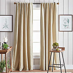 Martha Stewart Lido 2-Pack 95-Inch Backtab Blackout Window Curtain Panels in Linen