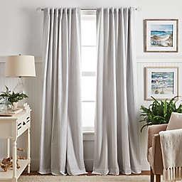 Martha Stewart Ticking Stripe Blackout Window Curtain Panel (Single)