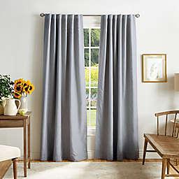 Martha Stewart Bedford Woven Plaid Backtab 100% Blackout Window Curtain Panels (Set of 2)