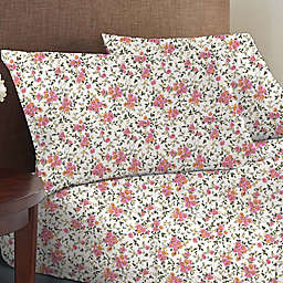 Wild Sage™ Brushed Cotton 225-Thread-Count Garden Floral Full Sheet Set in Coconut Milk