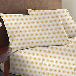 Wild Sage™ Brushed Cotton 225-Thread-Count Sun Print Twin XL Sheet Set in Yellow