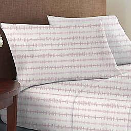 Wild Sage™ Brushed Cotton 225-Thread-Count Tie Dye Stripe Twin XL Sheet Set in Violet
