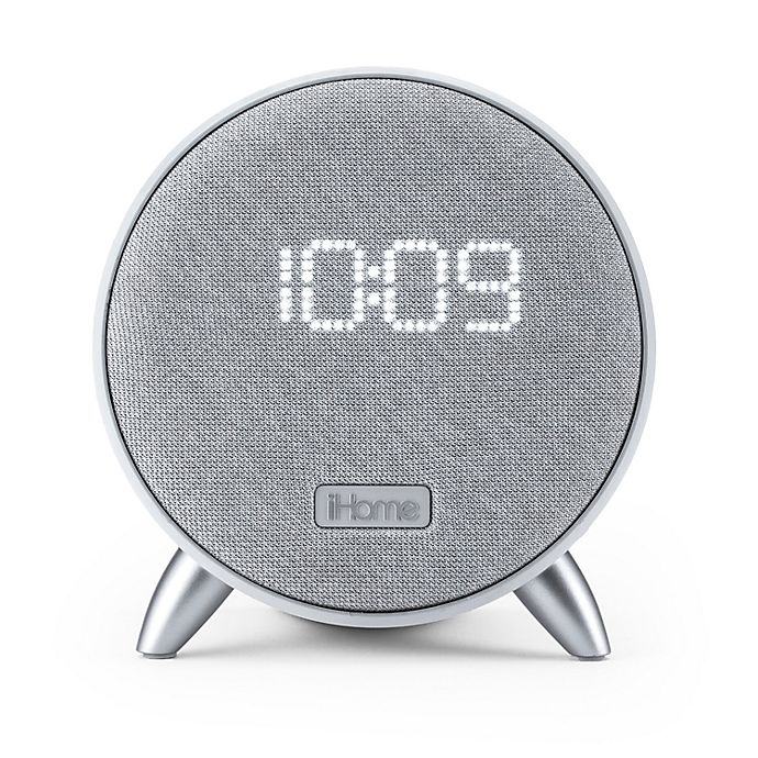 Alternate image 1 for iHome® Bluetooth® Alarm Clock in White with Dual USB Ports and Nightlight