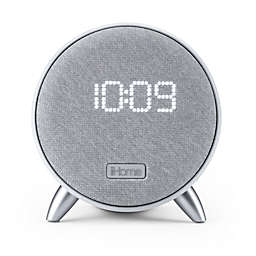 iHome® Bluetooth® Alarm Clock in White with Dual USB Ports and Nightlight