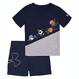 Under Armour® 2-Piece Ball Team Academy T-Shirt and Short Set in Blue