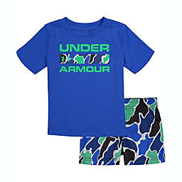 Under Armour® Size 24M 2-Piece Branded Versa T-Shirt and Short Set in Blue