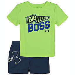 Under Armour® Size 24M 2-Piece Big League Boss Shirt and Short Set in Grey