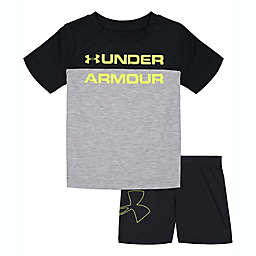 Under Armour® 2-Piece Branded Pocket Shirt and Short Set in Grey