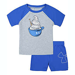 Under Armour 2-Piece Ice Cream T-Shirt and Short Set in Grey