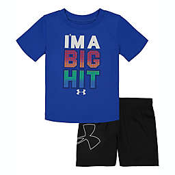 Under Armour® Size 24M 2-Piece I'm A Big Hit Shirt and Short Set in Blue