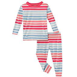 KicKee Pants® 2-Piece Cotton Candy Stripe Pajama Set