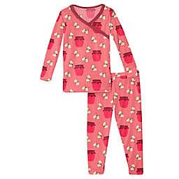 KicKee Pants® 2-Piece Strawberry Bees and Jam Kimono Pajama Set