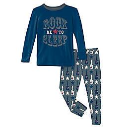 KicKee Pants® 2-Piece Guitar Stars Pajama Set in Slate