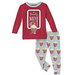 KicKee Pants® 2-Piece Popcorn Pajama Set in Blue