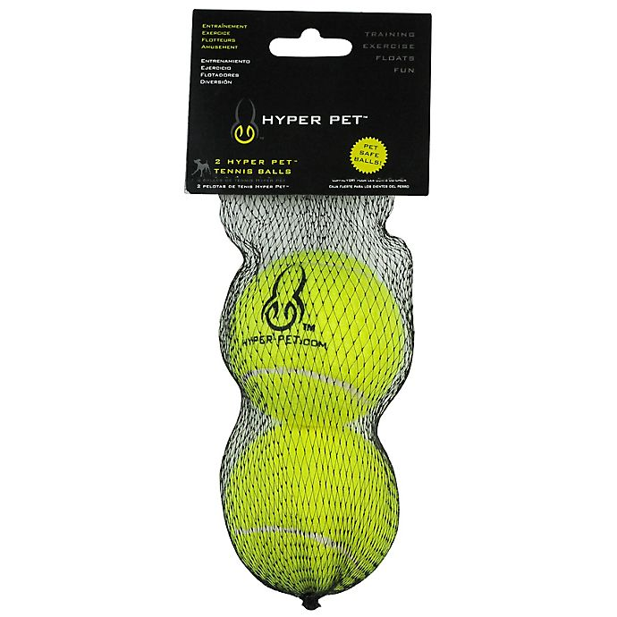 Alternate image 1 for Hyper Pet™ 2-Pack Tennis Balls in Green