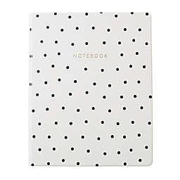 Eccolo Polka Dot Journal in White