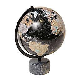 Eccolo Desk Globe in Black with Marble Base