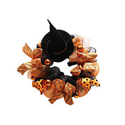 Artificial Halloween Witch Hat Wreath
