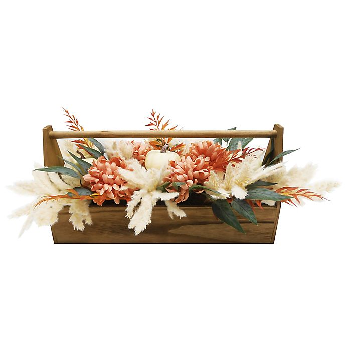 Alternate image 1 for Bee & Willow™ 9.5-Inch Floral Centerpiece with Wooden Crate
