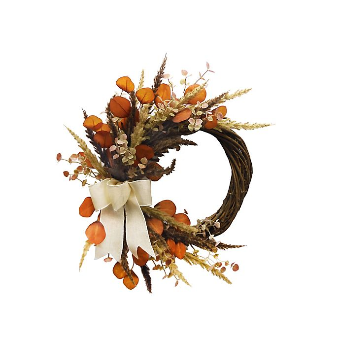 Alternate image 1 for Bee & Willow™ 24-Inch Half Wreath in Orange/Green