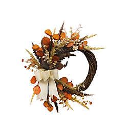 Bee & Willow™ 24-Inch Half Wreath in Orange/Green