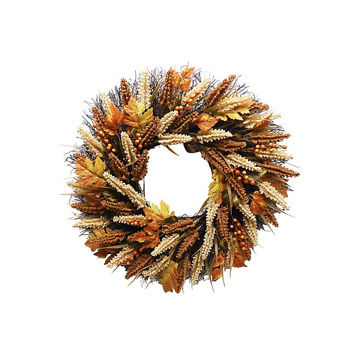Alternate image 1 for 24-Inch Fall Artificial Indoor/Outdoor Heather Wreath