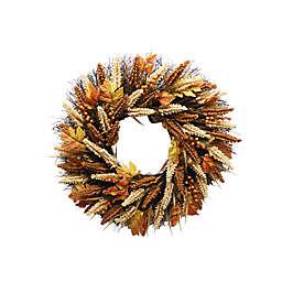 24-Inch Fall Artificial Indoor/Outdoor Heather Wreath