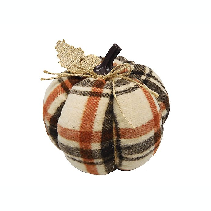 Alternate image 1 for 6-Inch Fabric Artificial Pumpkin