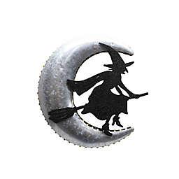 12-Inch Pre-Lit LED Glavanized Witch Sign