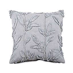 Bee & Willow™ Embroidered Floral Square Throw Pillow in Grey