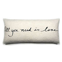"""Bee & Willow™ """"All You Need Is Love"""" Lumbar Throw Pillow in Coconut Milk"""