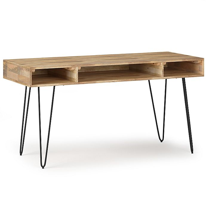 Simpli Home Hunter Solid Mango Wood, Mango Wood Desk