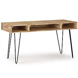 Simpli Home Hunter Solid Mango Wood Desk in Natural