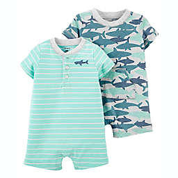 carter's® 2-Pack Cotton Snap-Up Rompers