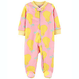 carter's® Pear 2-Way Zip Sleep & Play Footie in Pink/Yellow